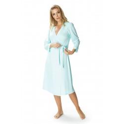 KrisLine Mademoiselle dwuczęściowy kostium kąpielowy w groszki duże rozmiary 95F + figi 3XL