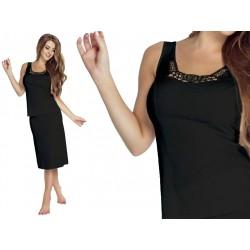 Jedwabny t-shirt damski duże rozmiary czarny