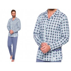 Koszulowa piżama męska 5XL duża Gracjan szara
