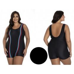 Duży jednoczęściowy strój kąpielowy czarny 58