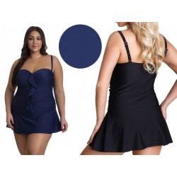 Jednoczęściowy duży strój kąpielowy sukienka plażowa 5XL