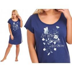 Andalea koszulka zmysłowa ecru duże rozmiary M/1087 rozmiary od 38 do 56