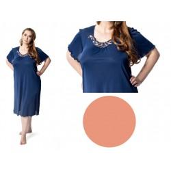 Wiskozowa koszula nocna duże rozmiary Mewa 4112 morelowa
