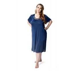 DKaren Komplet satynowy koszulka i spodnie 3/4 duże rozmiary IRINA od S do 10XL