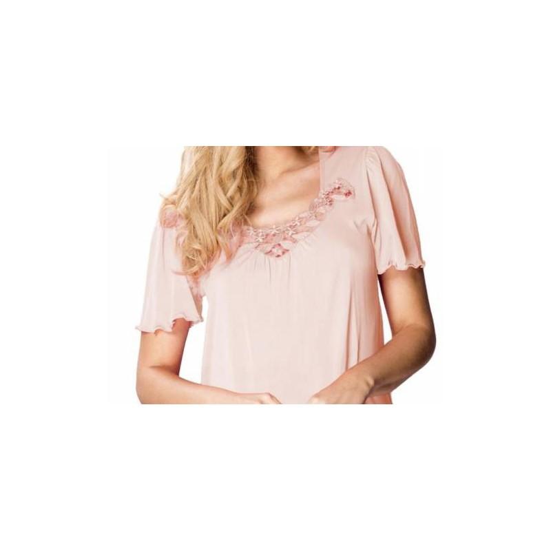 Andalea seksowna długa koszulka nocna E/2002 duże rozmiary od 38 do 56