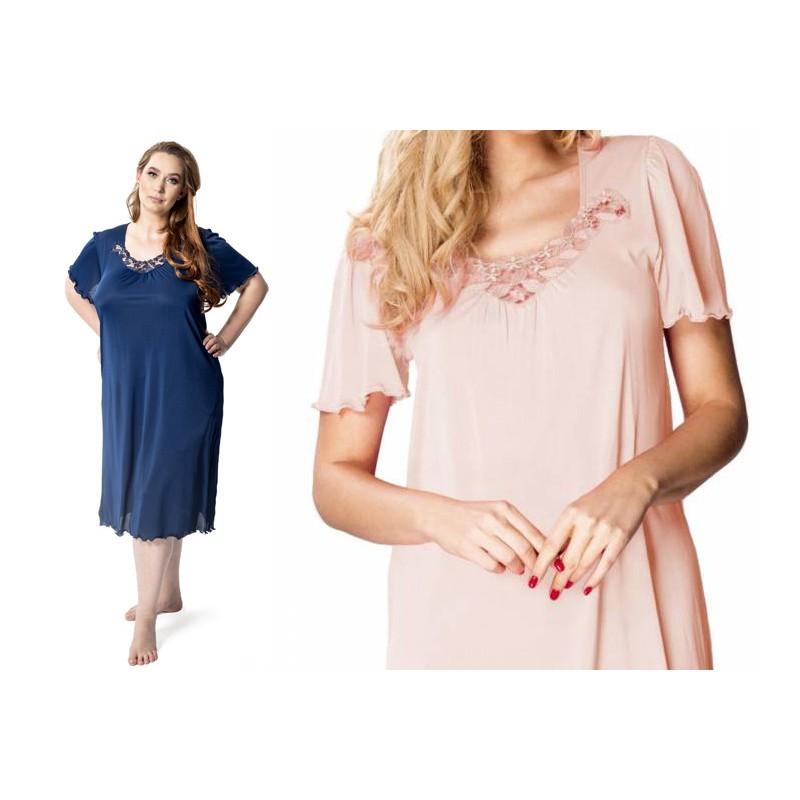 Andalea sexy koszulka nocna w dużych rozmiarach Dolores S/3001 od 38 do 56