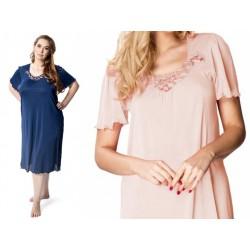 Wiskozowa koszula nocna duże rozmiary Mewa 4112 różowa