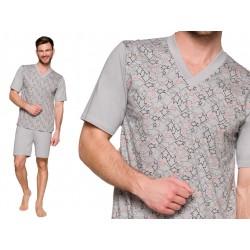 Duża męska piżama z bawełny Roman szara